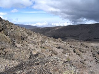 Rocky terrain from Moir camp to Lava Tower