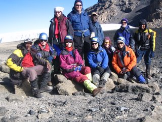 The group at the edge of the crater at the top of the western reach