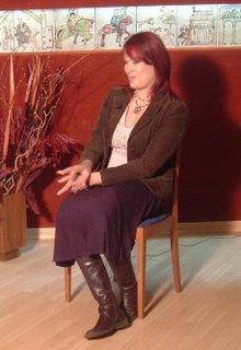 Irene Villa durante un momento de la entrevista