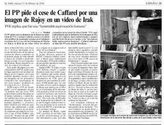 Aparición del malentenido en las páginas de El País