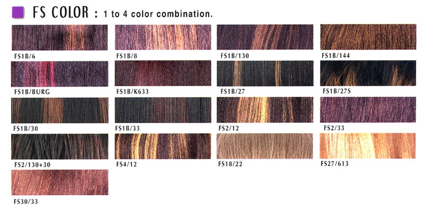 Janet Collection Hair Color Chart Fs Color
