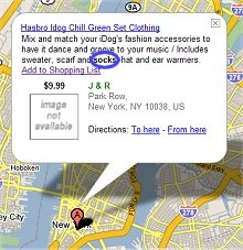 Froogle / Google Local NYC