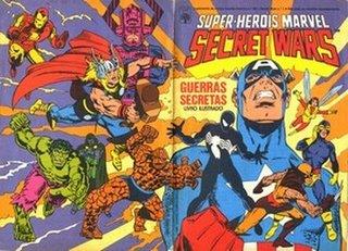Livro ilustrado Secret Wars