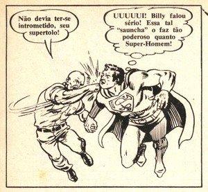 Capitão Strong soca Superman
