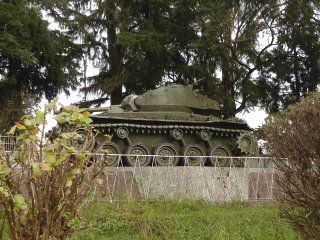 Pakistani Tank from the 1971 Indo-Pak War, on display at the State Central Library, Shillong