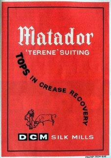Matador 'Terene Suiting' (DCM Silk Mills)