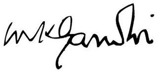 Gandhi's Signature
