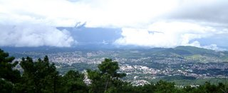 A view from the viewpoint: Shillong stretches below