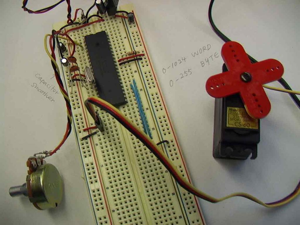 Physical computing servo motor pulse width var pot for Servo motor pulse width