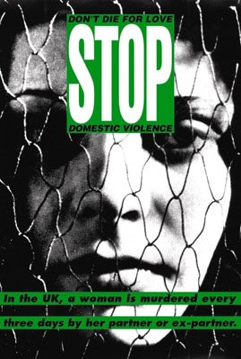 Poster by Barbara Kruger for the exhibition 'Stop violence against women!'