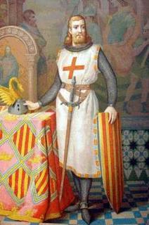 Jacques 1er portant la croix des templiers