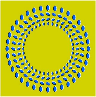 An oscillating fan Illusion