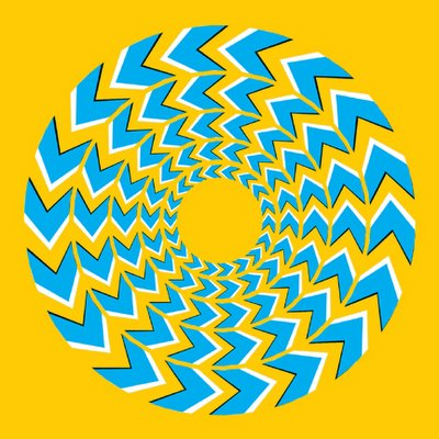 Spinning Chevrons Illusion