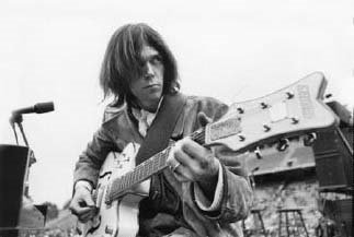 Young Neil Young at Woodstock