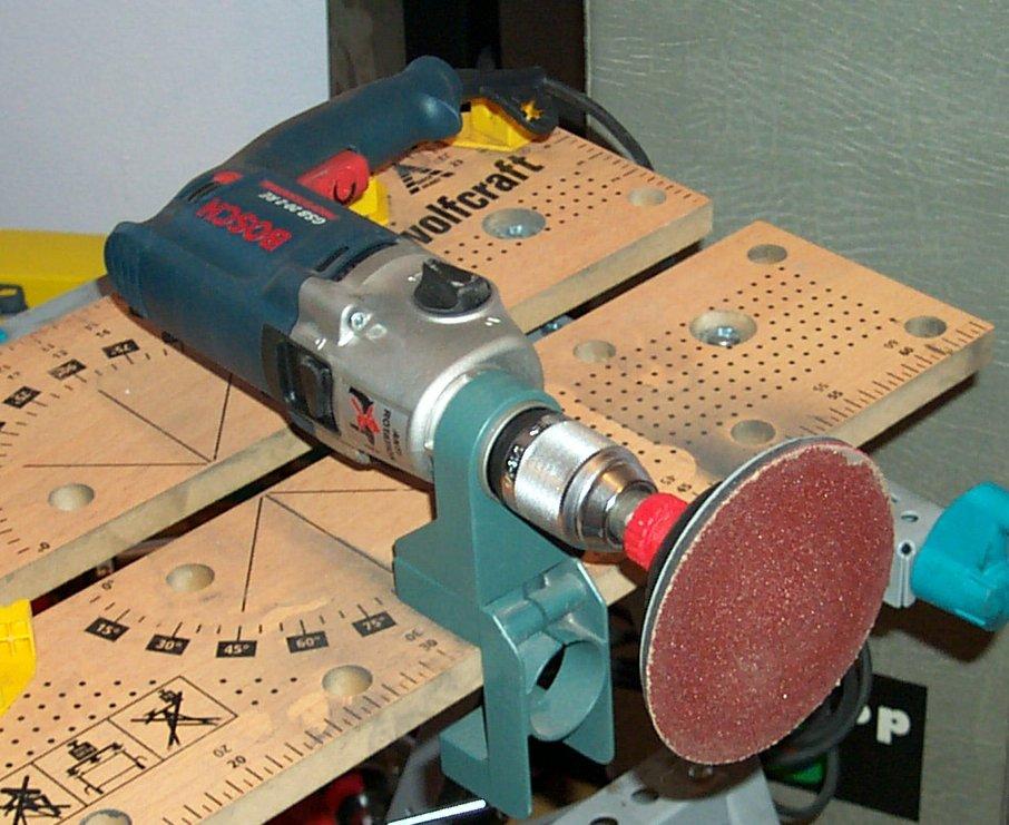El blindado personal trabajando la chapa 4 esculpiendo - Lija para taladro ...