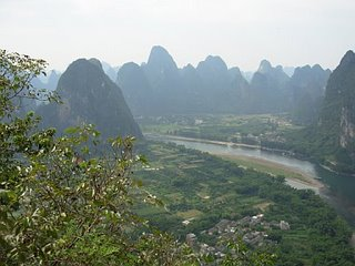 Karst limestone formations in Yangshuo, China