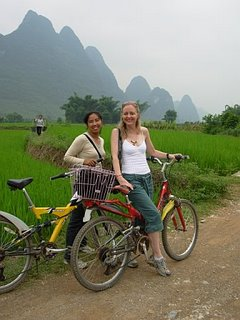Exploring Yangshuo in China by bike