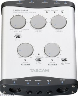 Tascam US144 USB 2.0 Audio/MIDI Interface