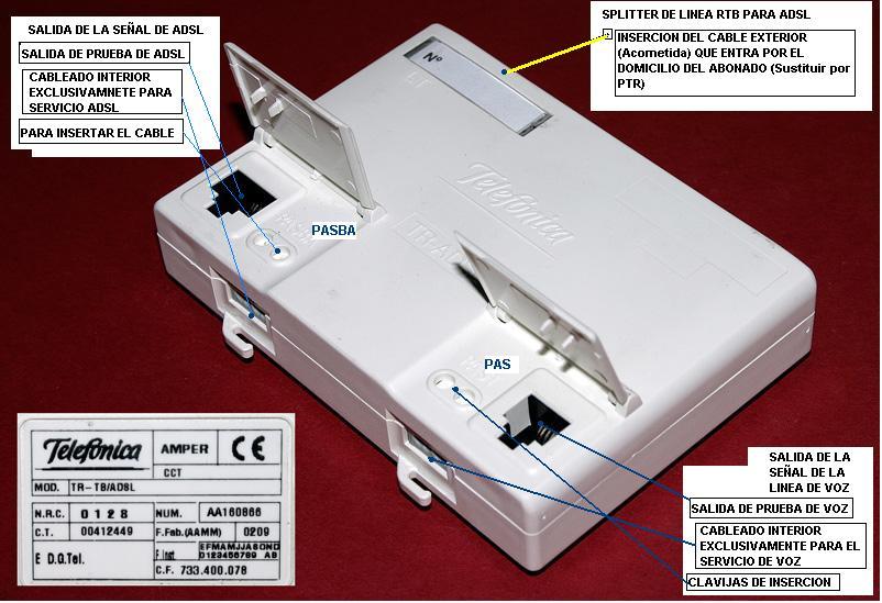 Cambiar toma de tel fono diferente para adsl 10mbs adsl for Telefono informacion ministerio interior