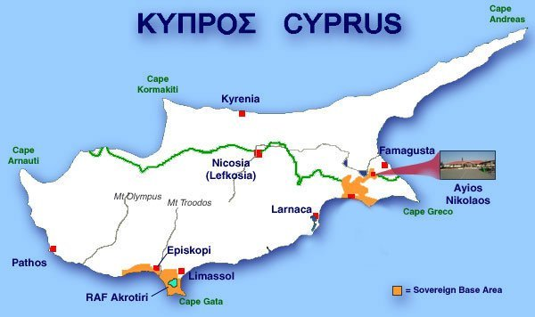 The Cyprus Adventure UK Sovereign Base Areas