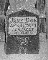 Grave marker of Boulder's Jane Doe