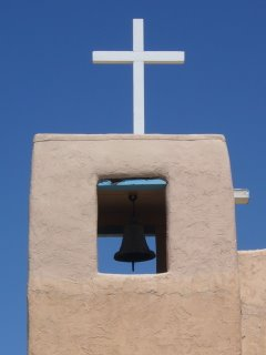 Belltower of the Santa Clara Pueblo Catholic Church