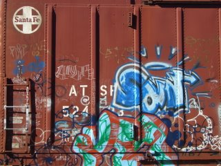 Box Car Graffiti, Santa Fe, New Mexico