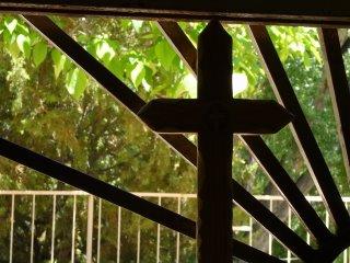 Window in El Santuario de Chimayo, New Mexico