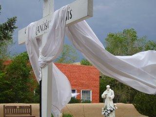 Outside San Francisco de Asis Church, Ranchos de Taos, New Mexico