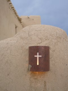 Outside San Francisco de Asis Church, Ranchos de Taos, New Mexico