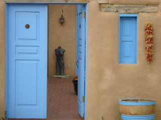 Blue door near San Francisco de Asis Church, Ranchos de Taos, New Mexico