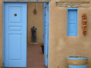 Blue door near San Francisco de Asis Church, Ranchos de Taos, New Mexico