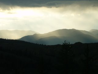 Rocky mountain summer storm, South Park, Colorado