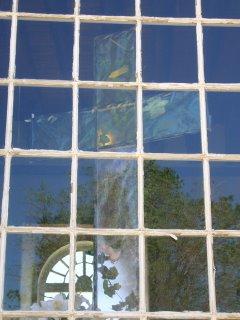 A window of San Francisco de Asis Church, Ranchos de Taos, New Mexico