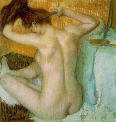 Woman Combing Her Hair by Degas