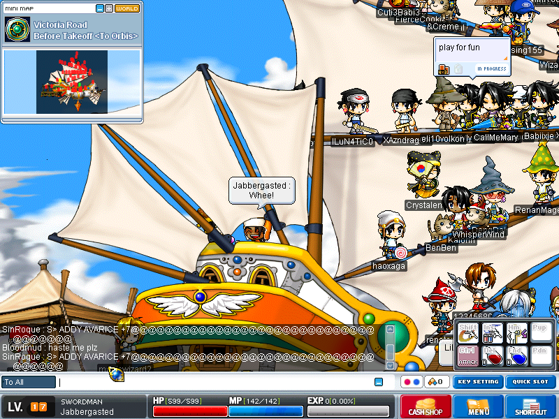 Orbis ship popular old Maplestory