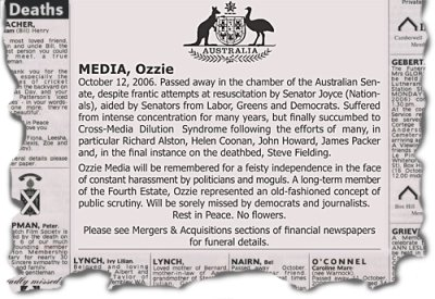 Vale Aussie media