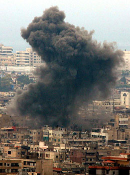 Southern suburb of Beirut bombed