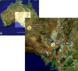 Location of the Marree Man