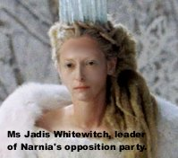 Tilda Swinton in 'The Chronicles of Narnia: The Lion, the Witch and the Wardrobe'