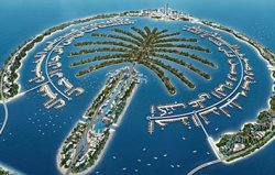 Jebel Ali, one of the Palm Islands off the shore of Dubai