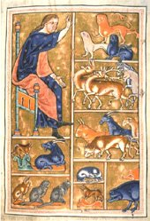 Adam Naming the Beasts in the Aberdeen Bestiary