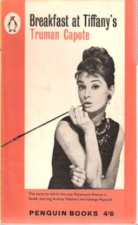 Breakfast at Tiffany's bookcover; Penguin