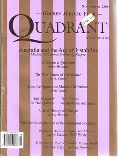 Quadrant, November 2006 magazine cover
