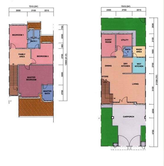 yang ini layout floor plan rumah aku suka sebab dapur