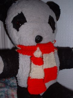 Panda with scarf