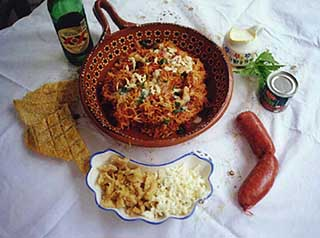 chorizo with combination noodles