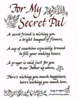 Secret+Pal+Poems Secret Sister Reveal Card Quotes. QuotesGram