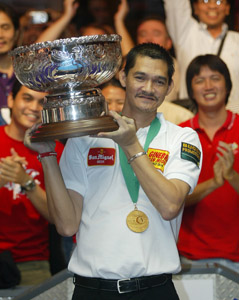 Renato Alcano with trophy