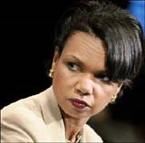 Condoleeza Rice puts on the mean look in January 2006
